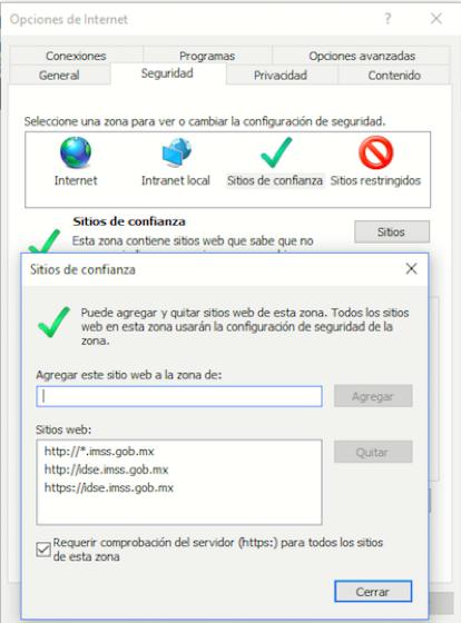 cambios pantalla IDSE